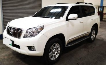 Pearl White Toyota Land Cruiser Prado 2012 for sale in Quezon City