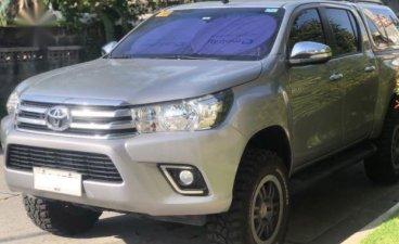 Grey Toyota Hilux 2016 for sale in Angeles City