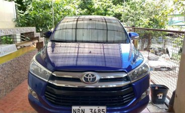 Blue Toyota Innova 2017 for sale in Manila