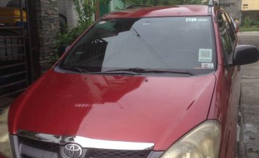 Red Toyota Innova 2007 for sale in Quezon City