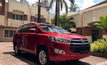 Selling Red Toyota Innova 2018 for sale in Manila