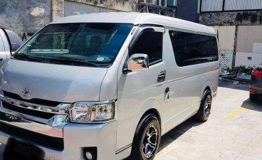 Silver Toyota Hiace Grandia GL 2.5 Auto 2015 for sale in Quezon