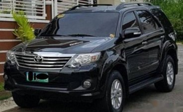 Black Toyota Fortuner 2013 SUV Automatic for sale in Manila