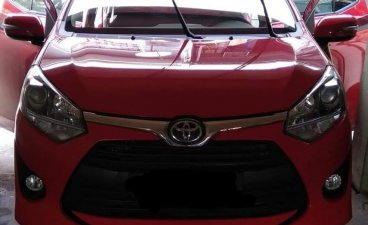 Red Toyota Wigo for sale in Valenzuela