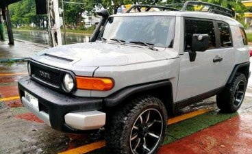 Selling Silver Toyota Fj Cruiser 2015 SUV at 50000 km in Manila
