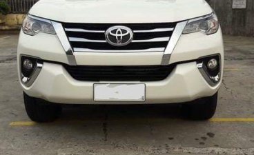 White Toyota Fortuner 2017 for sale in Malolos
