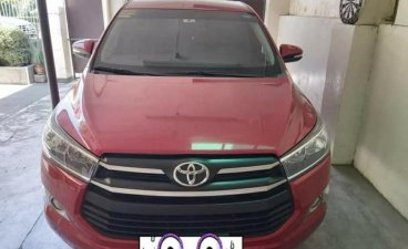 Red Toyota Innova 2017 for sale in Manila
