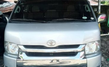 Silver Toyota Hiace 2014 for sale in Tacloban
