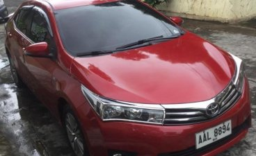 Red Toyota Corolla Altis 2014 for sale in Manila