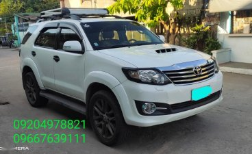Pearl White Toyota Fortuner 2015 for sale in Orani