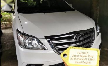 White Toyota Innova 2015 for sale in Cabanatuan