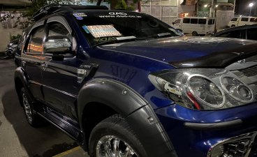 Blue Toyota Fortuner 2008 for sale in Manila