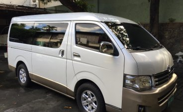 Pearl White Toyota Hiace Super Grandia 2013 for sale in Quezon City