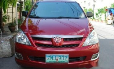 Red Toyota Innova 2008 for sale in Manila