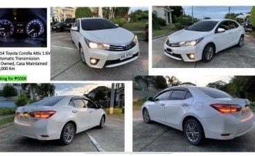 Pearl White Toyota Corolla Altis 2014 for sale in Santa Rosa