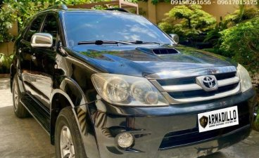 Black Toyota Fortuner 2008 for sale in Cebu