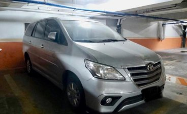 Silver Toyota Innova 2015 for sale in Manila