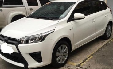 Pearl White Toyota Yaris 2017 for sale in Las Piñas
