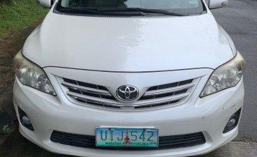 White 2013 Toyota Corolla Altis for sale in Manila