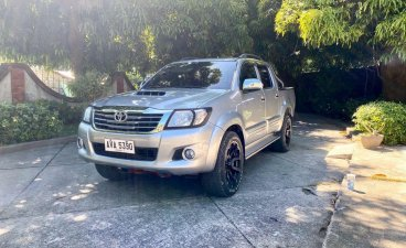 Silver Toyota Hilux 2015 for sale in Laoag City