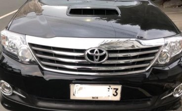 Black Toyota Fortuner 2.7 2015 for sale in Manila