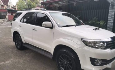 White Toyota Fortuner 2015 for sale in Caloocan