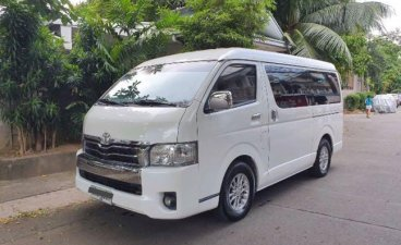 Pearlwhite Toyota Hiace Super Grandia 2015 for sale in Marikina