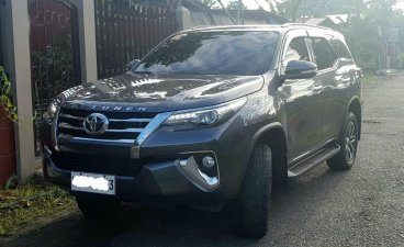 Grey Toyota Fortuner 2016 for sale in Davao