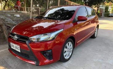 Sell Red 2015 Toyota Yaris Hatchback in Prosperidad