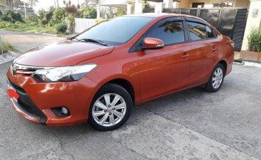 Orange Toyota Vios 2014 for sale in Quezon