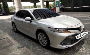 Pearl White Toyota Camry 2020