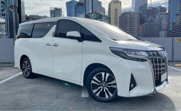 White Toyota Alphard 2019