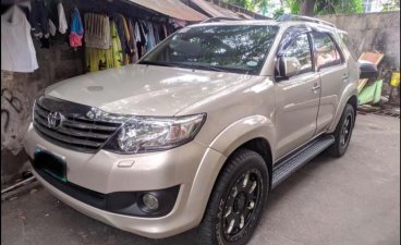 Silver Toyota Fortuner 2012