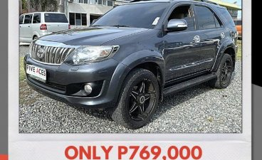 Silver Toyota Fortuner 2012 for sale in Mandaue