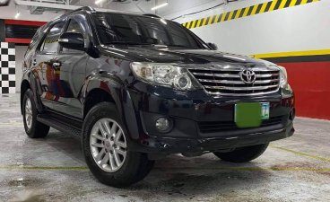 Black Toyota Fortuner 2012 for sale in Quezon
