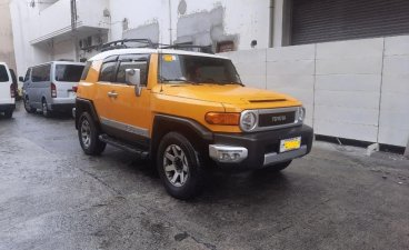 Yellow Toyota FJ Cruiser 2015 for sale in Pasay