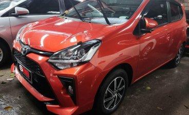 Orange Toyota Wigo 2020 for sale in Quezon City