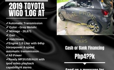 Grey Toyota Wigo 2019 for sale in Quezon