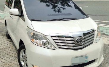 Pearl White Toyota Alphard 2012 for sale in Quezon