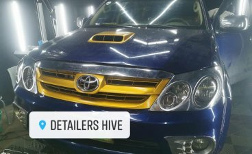Blue Toyota Fortuner 2007 for sale in Valenzuela