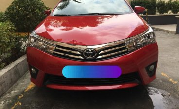 Red Toyota Corolla Altis 2016 for sale in Quezon City