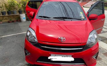 Selling Red Toyota Wigo 2016 in Quezon City