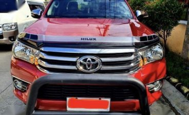 Selling Red Toyota Hilux 2017 in Santa Rosa