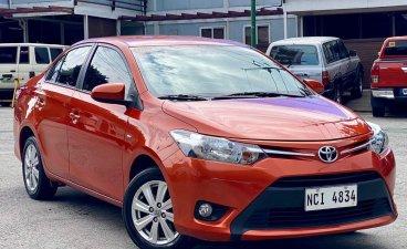 Selling Orange Toyota Vios 2017 in Makati