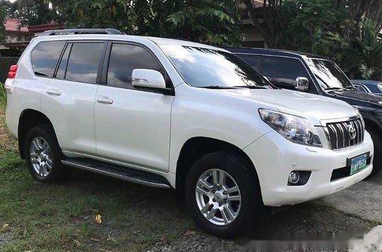 Selling White Toyota Land Cruiser Prado 2012 Automatic Gasoline at 58000 km-1
