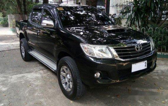 Black Toyota Hilux 2014 for sale in Quezon City