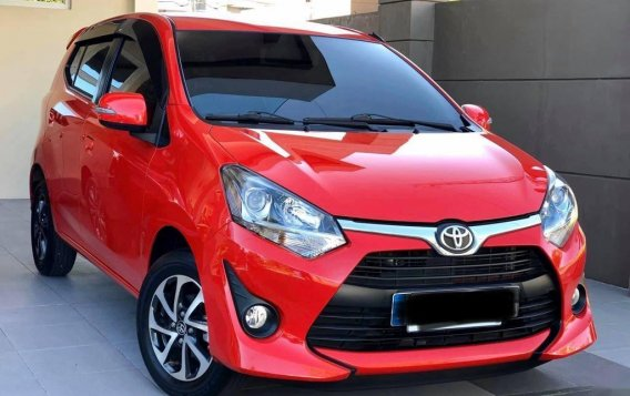 Red Toyota Wigo 2018 for sale in Quezon City-2