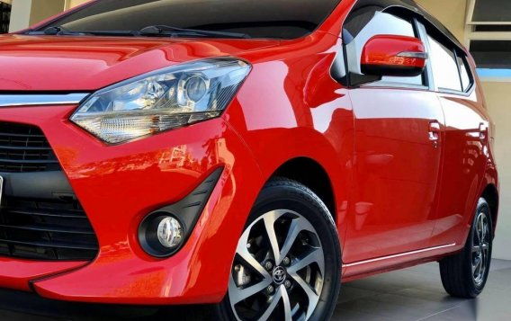 Red Toyota Wigo 2018 for sale in Quezon City-3