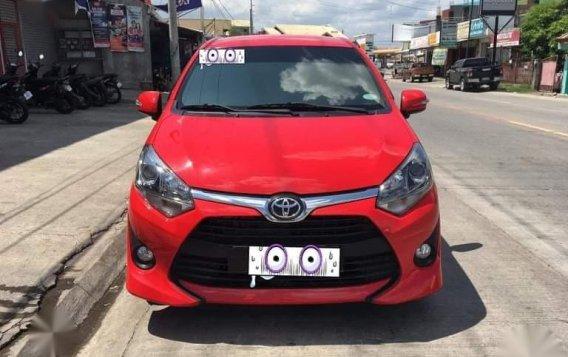 Sell Red 2018 Toyota Wigo in Tuguegarao-1