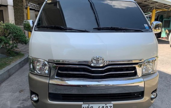 Selling Pearlwhite Toyota Hiace Super Grandia 2018 in Quezon